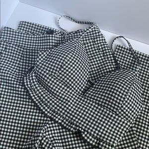 Black and White Gingham Set